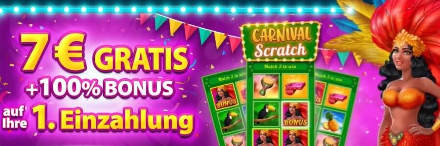 scratchmania 7 euro bonus