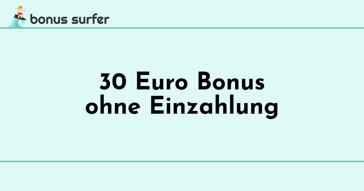 30 euro ohne einzahlung